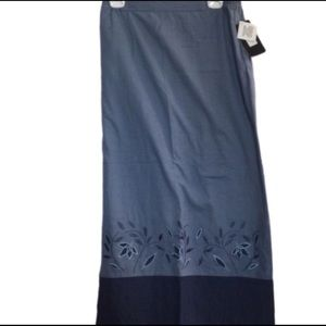 NEW! Embroidered Shades of Blue Skirt by Stunt